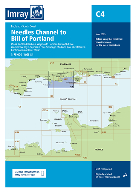 Imray Chart C4 Needles Channel to Bill of Portland