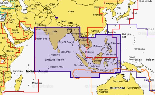 Navionics  31XG Indian Ocean & South China Sea
