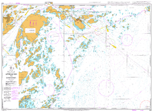 832 – Sweden East Coast Stockholms Skargard Approaches to Sandhamn