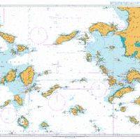 1095 – Aegean Sea Greece and Turkey Steno Kafirea to Rhodes Channel