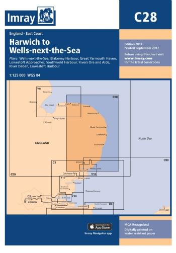 Imray Chart C28 Harwich To Wells Next The Sea South Bank Marine
