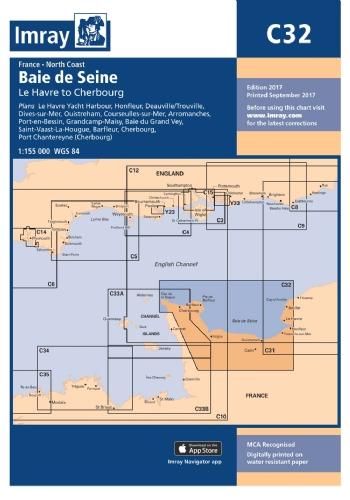 Imray Chart C32 Baie de Seine – Le Havre to Cherbourg
