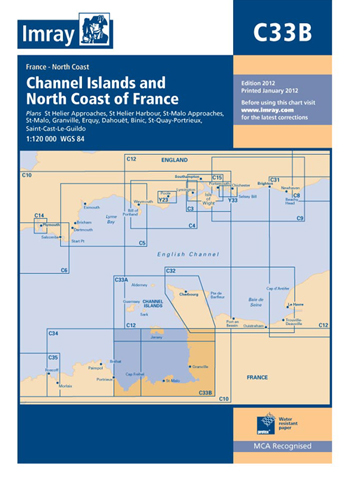 Imray Chart C33B Channel Islands (South)