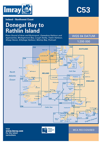 Imray Chart C53 Donegal Bay to Rathlin Island