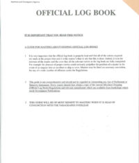 MCA Official Log Book Part 1