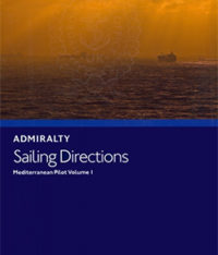 NP45 Admiralty Sailing Directions Mediterranean Pilot Volume 1