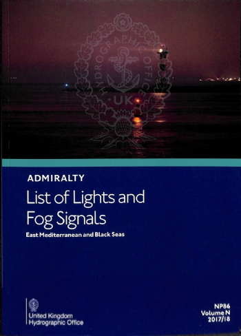 NP86 Admiralty List of Lights and Fog Signals Volume N