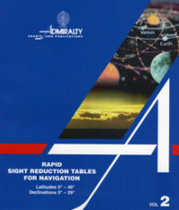 NP303 Admiralty Rapid Sight Reduction Tables for Navigation Vol 2