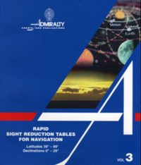 NP303 Admiralty Rapid Sight Reduction Tables for Navigation Vol 3