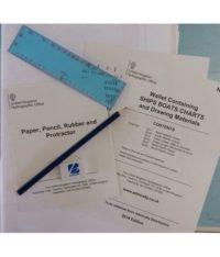 NP727 Wallet Containing – Ships Boats Charts & Drawing Materials