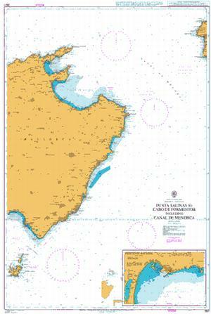 Detailed Map Of East Coast Of Spain.2831 Spain Islas Baleares Mallorca East Coas Punta Salinas To Cabo De Formentor Including Canal De Menorca