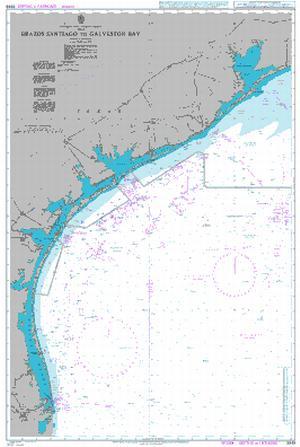 Admiralty Chart 3849 Brazos Santiago To Galveston Bay