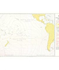 5399 – Admiralty Magnetic Variation Chart South Pacific Ocean