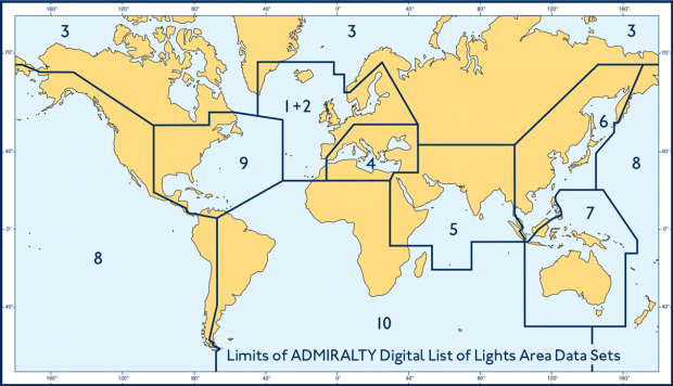Admiralty Digital List of Lights Area 4 Mediterranean and Black Seas