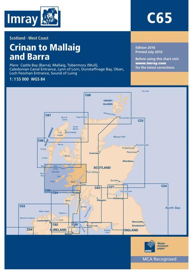 Imray C65 Crinan to Mallaig and Barra