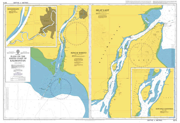 3015 – Indonesia Kalimantan Selat Laut and Sungai Barito