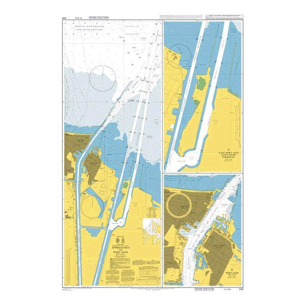240 – Mediterranean Sea Egypt Approaches to Port Said (Bur Sa'id)
