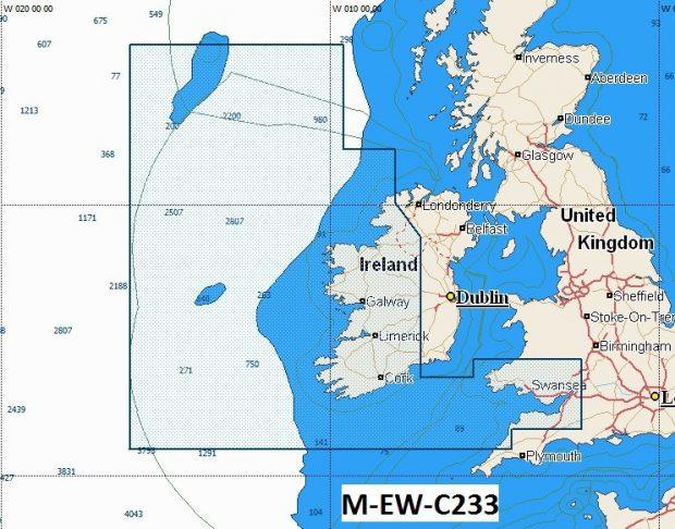 C-Map NT+  Wide Chart EW-C233 Bristol Channel & West Ireland
