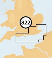Navionics + Small Chart 822 Portland to Walton-on-the-Naze