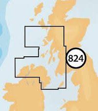 Navionics + Small Chart 824 Ireland North, Scotland West