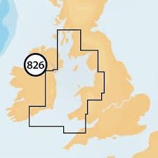 Navionics + Small Chart 826 Irish Sea and Scotland South West