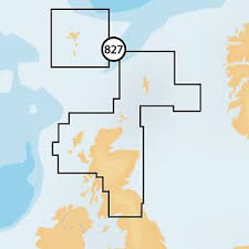 Navionics + Small Chart 827 Scotland North and East, Faroe Islands