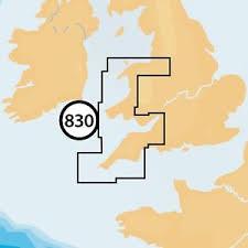 Navionics + Small Chart 830 Liverpool to Exmouth