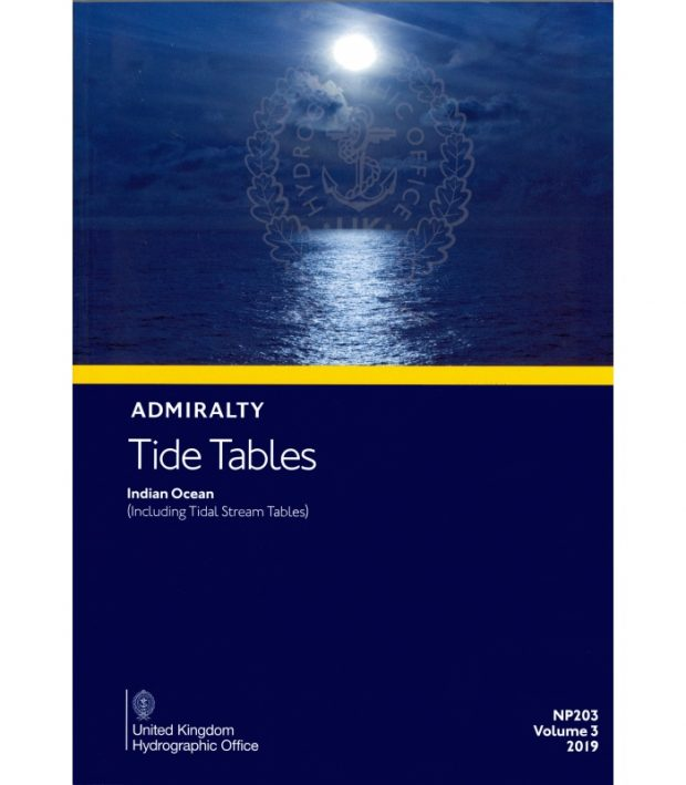 NP203 Admiralty Tide Tables (incl. Tidal Stream Tables) Volume 3 2020
