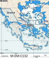 C-Map NT+ Wide Chart EM-C132 Greece: Ionian And Aegean Sea