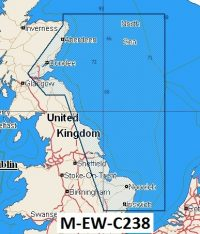 C-Map NT+ Wide Chart EW-C238 East Scotland/England: Fraserburgh To Harwich