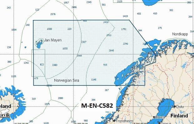 C-Map NT+ Wide Chart EN-C582 North Norway Vestfjorden To Nordreisa Fjord