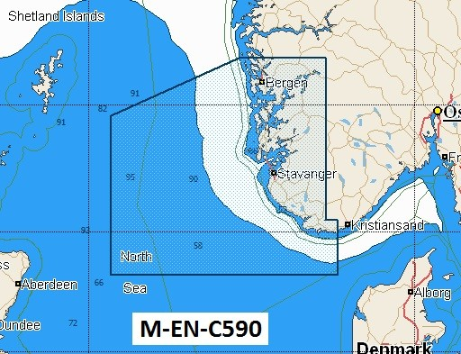 C-Map NT+ Wide Chart EN-C590 West Norway: Mandal To Sture