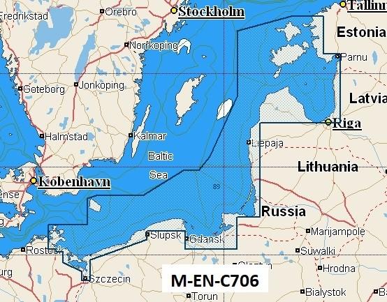 C-Map NT+ Wide Chart EN-C706 Estonia, Latvia, Lithuania, Poland