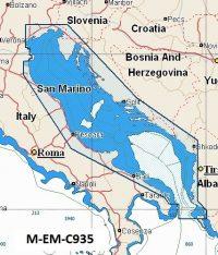 C-Map NT+ Wide Chart EM-C935 Adriatic Sea
