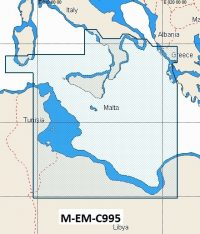 C-Map NT+ Wide Chart EM-C995 Low Tyrrhenian Sea, Tunisia, Libya